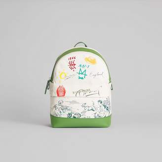 Burberry Adventure Print Cotton Canvas Backpack, Green