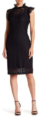 Alexia Admor Cap Sleeve Lace Sheath Dress