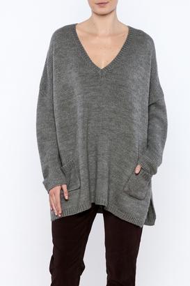 h.one V-Neck Oversize Sweater $59 thestylecure.com