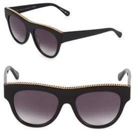 Stella McCartney 52MM Flat Top Round Sunglasses
