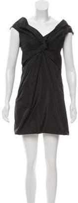 Marc Jacobs Draped Silk Dress Black Draped Silk Dress
