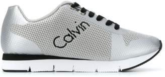 Calvin Klein Jeans mesh panel running sneakers