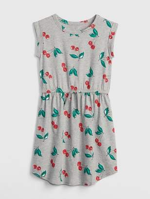 Gap Print Cinched-Waist T-Shirt Dress