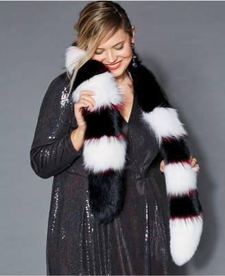 The Fur Vault Pull-Through Fox Fur Scarf