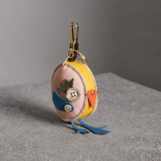 Burberry Derek The Bird Leather Charm, Yellow