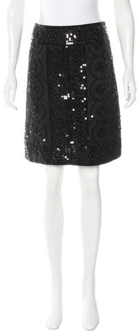 Tory BurchTory Burch Knee-Length Sequin Embellished Skirt