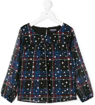 Tommy Hilfiger Junior plaid stars print blouse