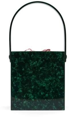 Montunas - Stelis Acetate Box Bag - Womens - Green Multi