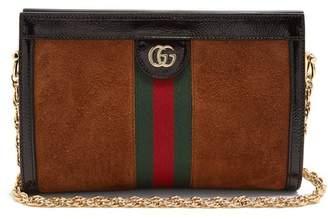 Gucci Ophidia Suede Shoulder Bag - Womens - Tan Multi