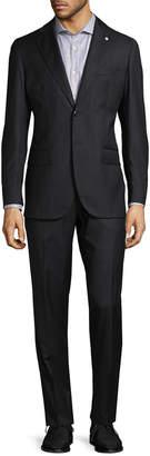 Lubiam Striped Virgin Wool Suit