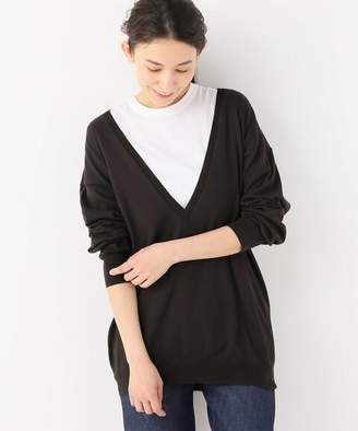 Journal Standard (ジャーナル スタンダード) - journal standard luxe 【unfil/ アンフィル】 egyptian cotton deepV-neck sweater