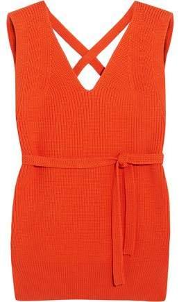 Dkny Open-Back Ribbed Cotton-Blend Vest