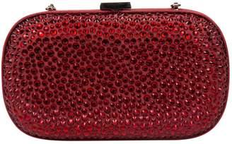 Giuseppe Zanotti Red Suede Clutch Bag