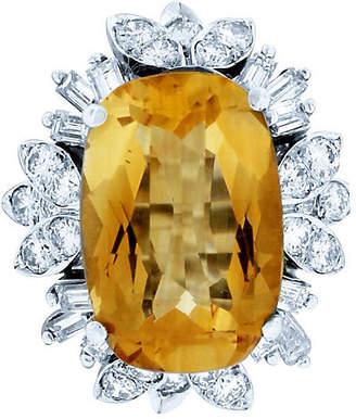 One Kings Lane Vintage Cirtine & Diamond Ring - Raymond Lee Jewelers