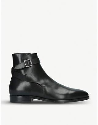 Ralph Lauren Purple Label Balen leather ankle boots