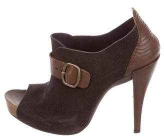 Pedro Garcia Leather Peep-Toe Booties