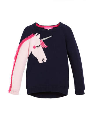 Joules Geegee Unicorn Intarsia Sweater, Size 2-6