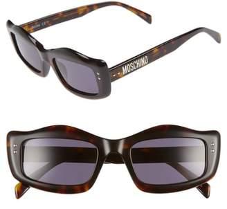 Moschino 51mm Rectangle Sunglasses