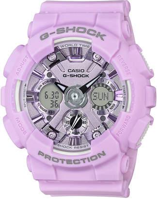 G-Shock Women's Analog-Digital Light Purple Resin Strap Watch 45.9mm