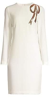 Trina Turk Women's Eastern Luxe Muraski Sequin Bow Shift Dress - Size 0