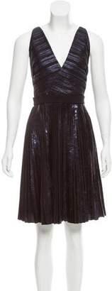 Proenza Schouler Metallic Pleated Dress