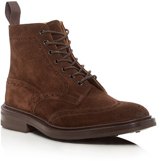Tricker's Stow Brogue Derby Boots $670 thestylecure.com
