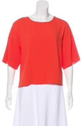 Tibi Lightweight Short Sleeve Top
