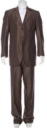 Dolce & Gabbana Striped Virgin Wool & Silk Suit