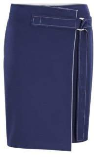 BOSS Hugo Knee-length wrap skirt belt & contrast stitching 4 Dark Blue