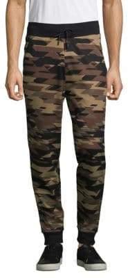 HUGO BOSS Dilitary Camouflage Cotton Sweatpants