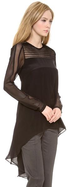 Vera Wang Collection Long Sleeve Top