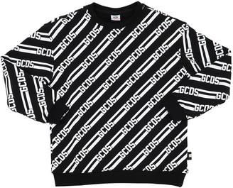 GCDS All Over Logo Cotton Sweatshirt