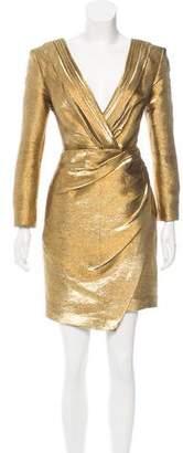 Saint Laurent Metallic Wrap Dress