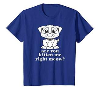 Funny Are You Kitten Me Right Meow Cat T-shirt