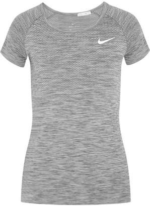 Nike Paneled Dri-fit Stretch T-shirt - Gray