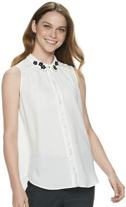 Elle Women's Ruffle-Placket Top