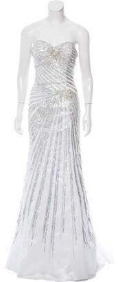 Jovani Sequined Column Gown