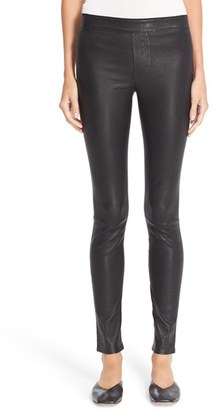 Women's Helmut Lang Stretch Lambskin Leather Leggings $920 thestylecure.com