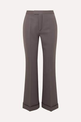 Maison Margiela Cropped Cady Flared Pants - Gray