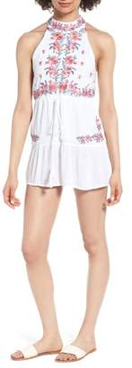 Raga Mariah Embroidered Halter Neck Romper