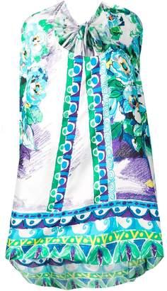 Prada asymmetric hem bow-back dress