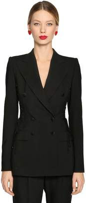 Dolce & Gabbana Lace-Up Stretch Cool Wool Blazer