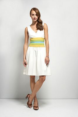 Rossa Dress in White or Navy