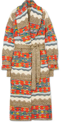 Missoni Metallic Chunky-knit Cardigan - Orange