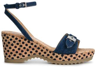 Stella McCartney denim Linda wedge sandals