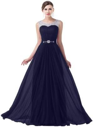 MaliaDress Long Chiffon Rhinestone Evening Bridesmaid Dress Prom Gown M034LF US