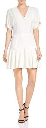 Halston Short-Sleeve Tape-Detail Dress