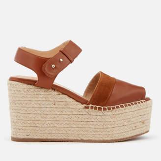 Castaner Women's Enea Leather Wedged Sandals - Cuero