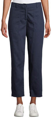 Eileen Fisher Plus Size Soft Organic Twill Cropped Taper Pants