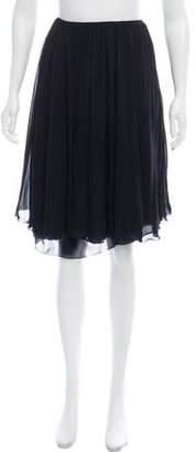 Chanel Knee-Length Chiffon Skirt
